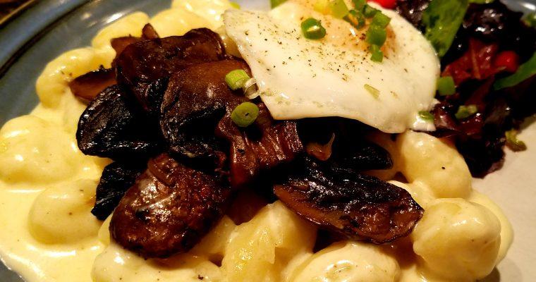 Gnocchi in Nutmeg Al Fredo with Mushrooms