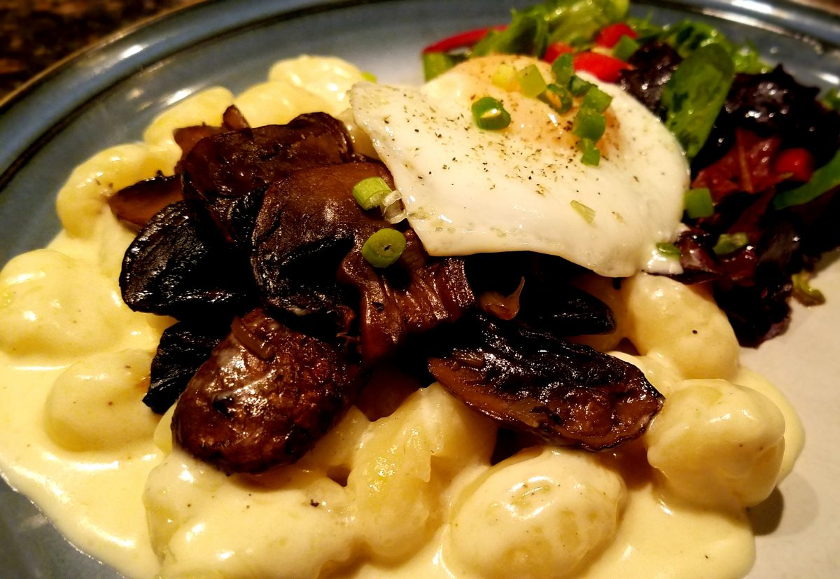 Gnocchi in Nutmeg Al Fredo with Mushrooms