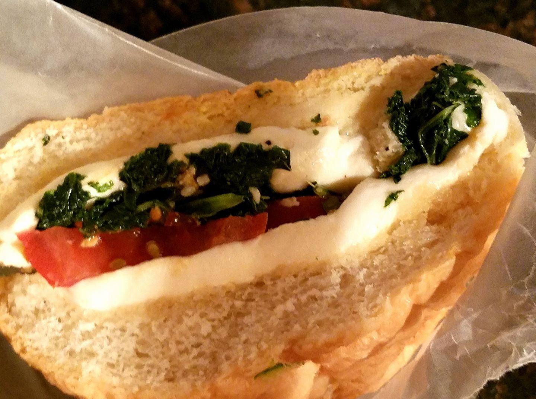 The MKT – Mozzarella, Kale & Tomato Sandwich