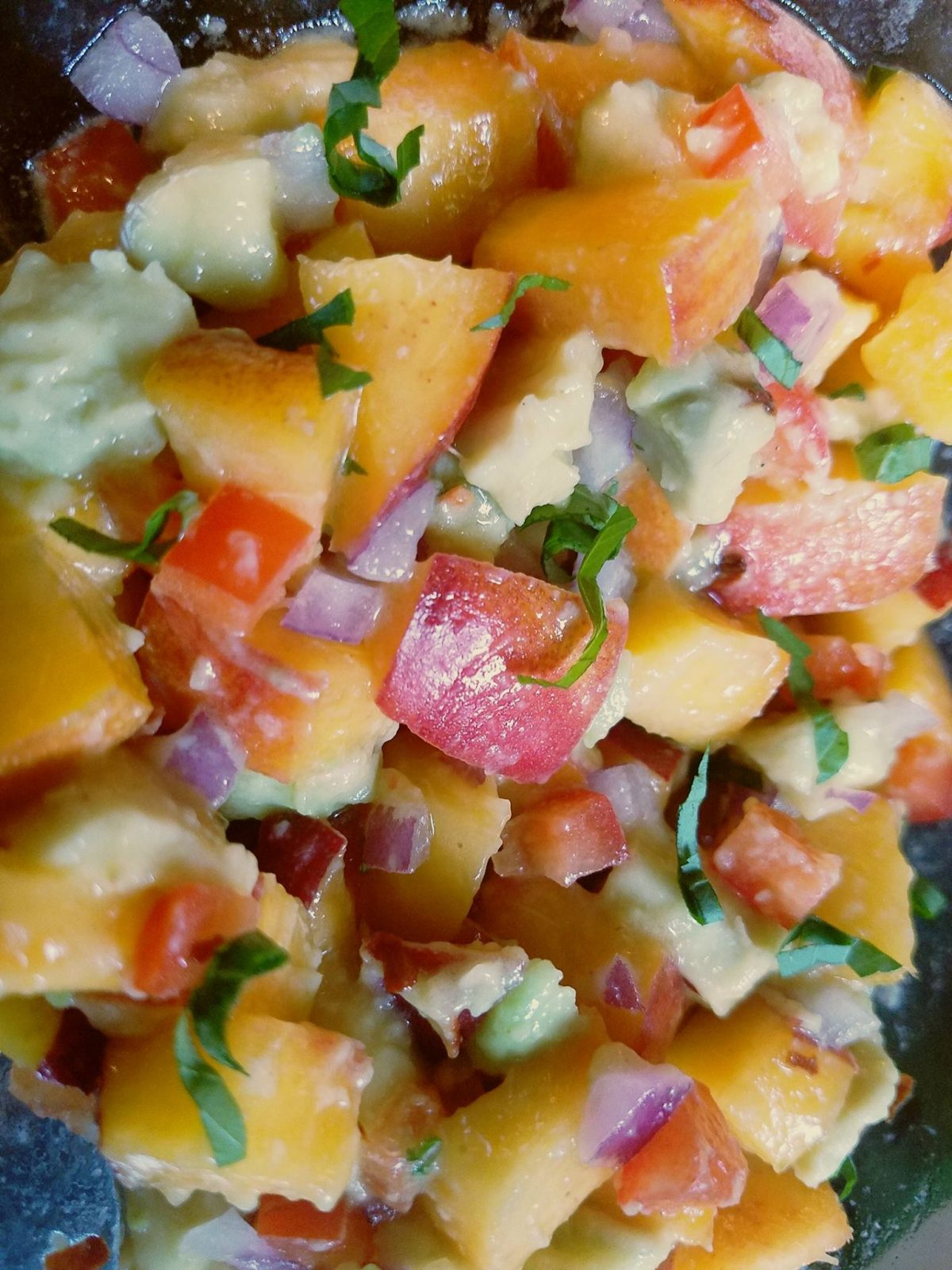 Ginger, Nectarine and Avocado Salsa with Pineapple and Thai Basil