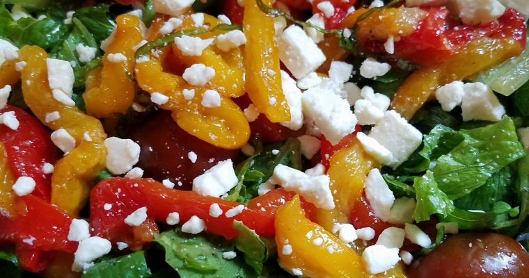 Roasted Pepper and Tomato Salad